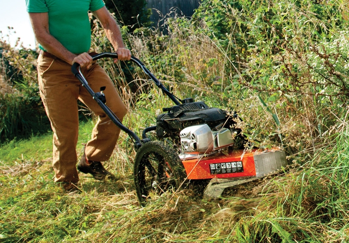 DR Wheeled Trimmer Mower Working